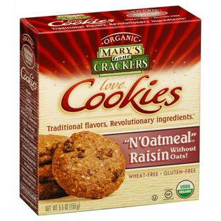 N Oatmeal Raisin Gluten Free Cookies Vegan Cert.Organic (155g)
